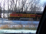 BNSF 4816 Through my Passenger-side Window at 40mph