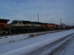 BNSF 9831 Helps out on a String of Coal Empties