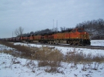 BNSF 5501 & Two Other Dash-9s Take Grain East