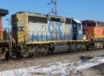 CSX 8148 Helps on a BNSF Manifest Train