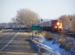 BNSF 9933 is Non-typical Power for a Piggyback Train