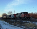Mixed EMD Power Leads a Short CN Local