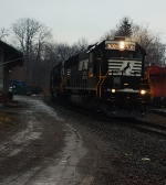 NS 6302 At Greenville RR park