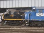 NS 5358 passes WNYP 421