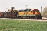 Work train parked on team track