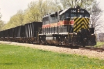 Northbound ballast train
