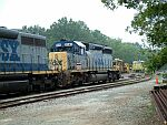 CSX 8048 and MOW crews on the main