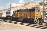 Switching intermodal cars in the old yard