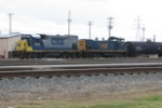 CSX 1553 gets ready to depart Queensgate with a local going to Ivorydale