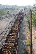 welded rail train at Center Street