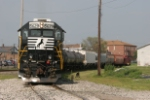 NS 5629 backs out of the yard at Orrville