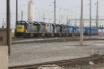 CSX 2802 and others at Collinwood engine terminal