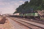 Eastbound intermodal passes through Hoffman