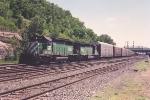 Westbound vehicle train through Hoffman