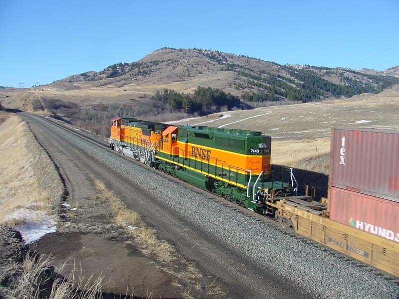 BNSF Stacks on the MRL