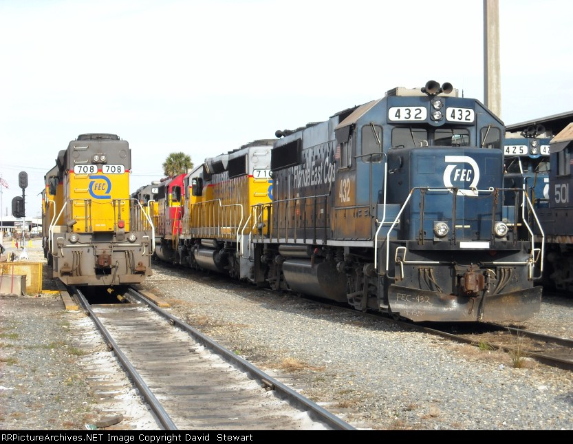 Florida East Coast Railway-Bowden Yard-