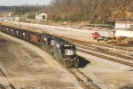 Eastbound coal loads prepare to depart