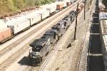 Westbound intermodal enters Inman Yard