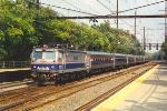 Westbound passenger train