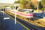 Westbound expresses roars through station