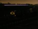 CSX 687 as a car streaks by on I-520