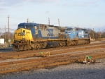 CSX 390 & CSX 7335 sit on the Engine Track