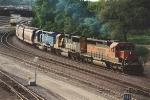 Eastbound grain train uses Northtown Yard North Runner
