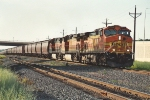 Eastbound &quot;Earthworm&quot; grain train