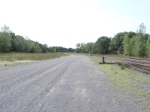 looking southward along the yard tracks