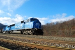 Conrail 6718 heads east with a loaded coal train