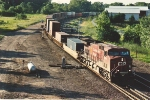 Eastbound intermodal drifts through Mississippi