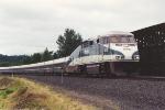 Northbound Cascade service passenger train