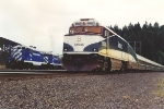 Southbound Cascade service passes transfer