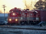 R.J. Corman 1858/1608 build their train to Clarksville Tn 12/29/2008
