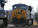 CSX 830 sits alone on the Engine Track