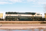 BNSF 9513 is the 2nd head-end power unit idling