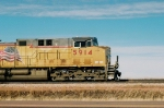 UP 5914 pointed east on head end of JECX coal loads