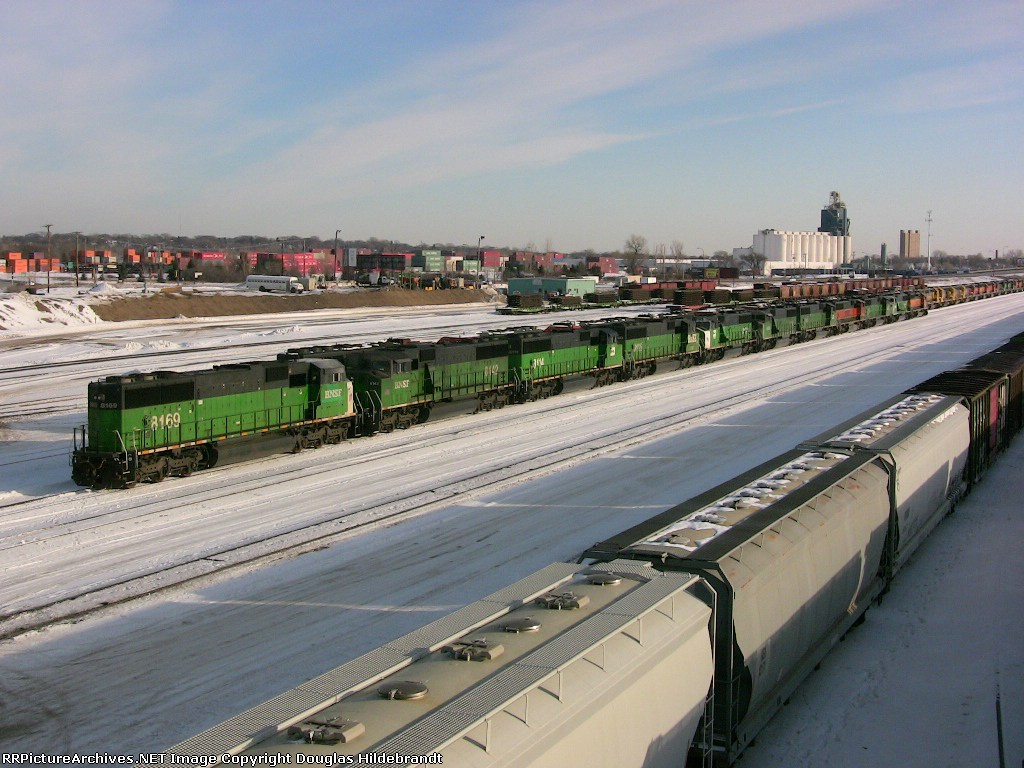 Lineup of stored SD60s