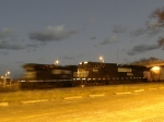 NS 9605 waits while 9800 does a quick drop off, pick up and go