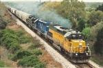 Grain train races north