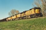 Southbound ballast train