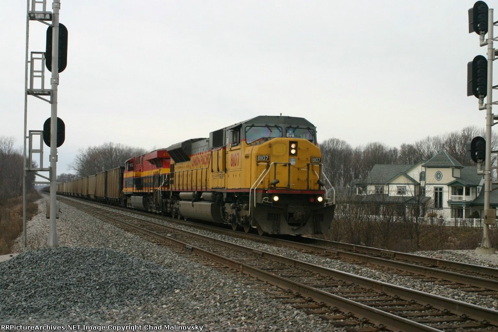 UP 8107 with New York coal loads