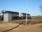ICE 6446 and DME 6200 continue their journey East