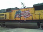 Beautiful flag decal on the SD70ACe