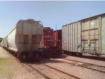 CP Rail SD40-2 hiding in the yard