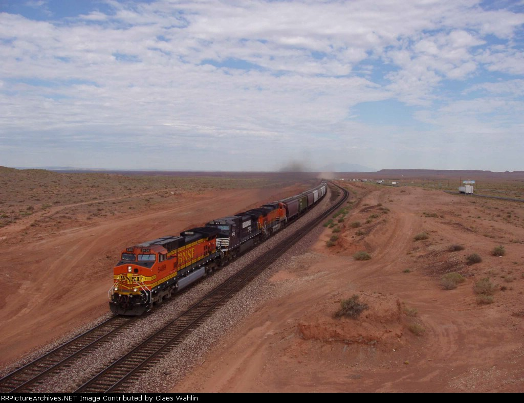 BNSF train coming from Flagstaff