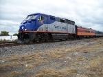 NC 1755 pulls train 74 north past Wye