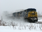 Q326-10 trudges east through the snow
