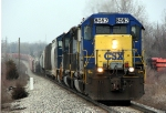 CSX 8052 leads 72 cars east on L326-21