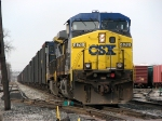 CSX 476 leads K356-09 out of the yard